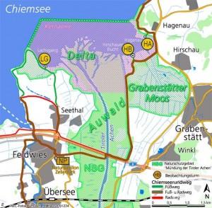 NSG Karte Naturerlebnis Chiemsee