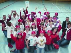 Jugendgruppe der Wasserwacht Chieming als Sieger im Kreiswettbewerb des Jugendrotkreuzes (JRK)