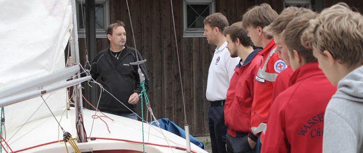 Impressionen vom Kentertraining mit dem Segelclub Chieming
