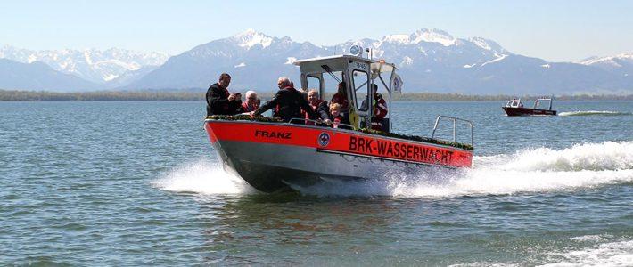Wasserwacht Chieming tauft neues Rettungsboot