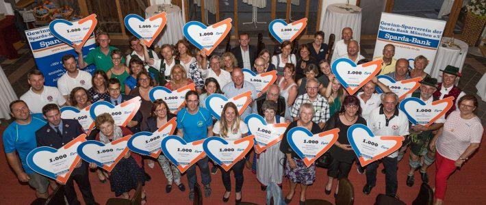 Sparda-Bank in Traunreut spendet anlässlich ihres Geburtstags 1.000 Euro